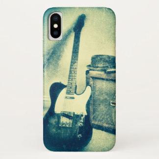 classic rock n roll guitar iPhone case