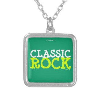 CLASSIC ROCK SQUARE PENDANT NECKLACE
