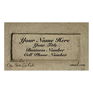 Classic Rock (w/title) Business Card Template