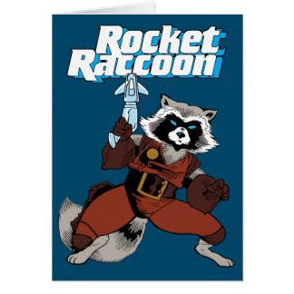 Classic Rocket Raccoon Character Art Card