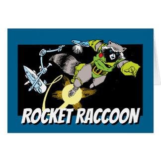 Classic Rocket Raccoon Comic Panel Card