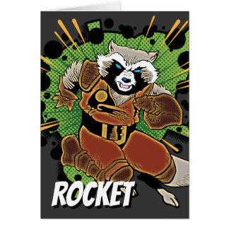 Classic Rocket Raccoon Running Graphic Card