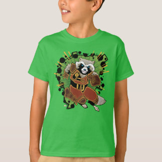 Classic Rocket Raccoon Running Graphic T-Shirt