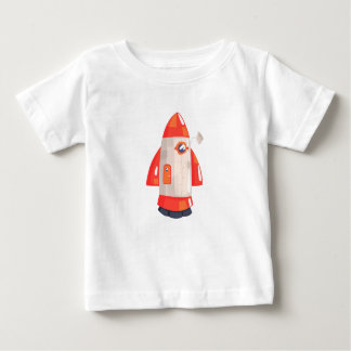 Classic Rocket Spaceship With Satellite Dish On Baby T-Shirt