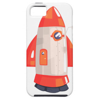 Classic Rocket Spaceship With Satellite Dish On Case For The iPhone 5