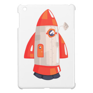 Classic Rocket Spaceship With Satellite Dish On iPad Mini Covers