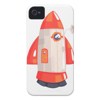 Classic Rocket Spaceship With Satellite Dish On iPhone 4 Cover