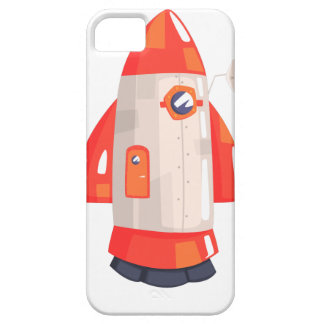 Classic Rocket Spaceship With Satellite Dish On iPhone 5 Cases