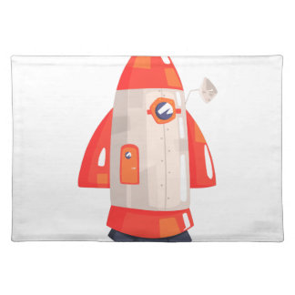 Classic Rocket Spaceship With Satellite Dish On Placemat