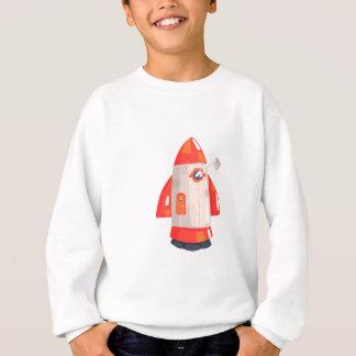 Classic Rocket Spaceship With Satellite Dish On Sweatshirt