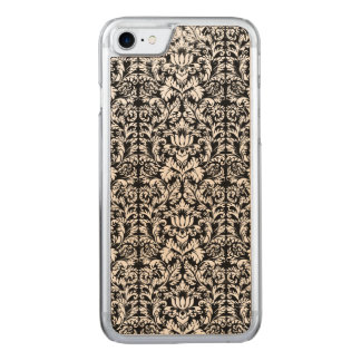 Classic ROcoco Gothic Black Damask Noir Carved iPhone 7 Case