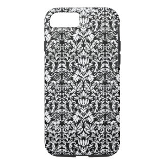 Classic ROcoco Gothic Black Damask Noir iPhone 7 Case