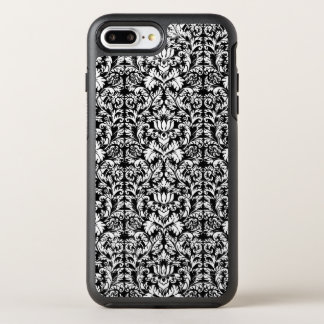 Classic ROcoco Gothic Black Damask Noir OtterBox Symmetry iPhone 8 Plus/7 Plus Case