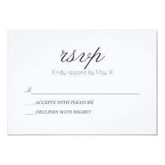 Classic & Romantic | RSVP Card