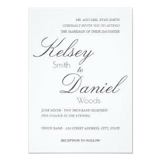 Classic & Romantic | Wedding Invitation