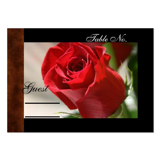 Classic Rose & Leather Wedding PlaceCard Business Card Template