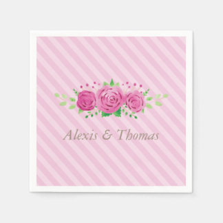 Classic Rosiness Pink Wedding Napkin Paper Napkins
