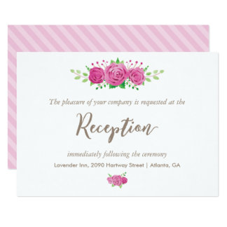 Classic Rosiness Reception Card