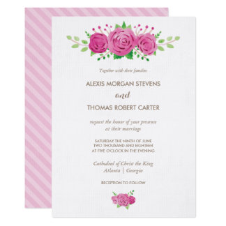 Classic Rosiness Wedding Invitation