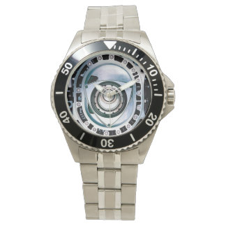 Classic Rotary Engine Stainless Steel Watch