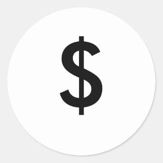 $ CLASSIC ROUND STICKER