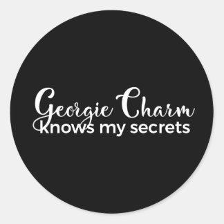 """Classic Round Sticker 1/2"""" Georgie Charm"""