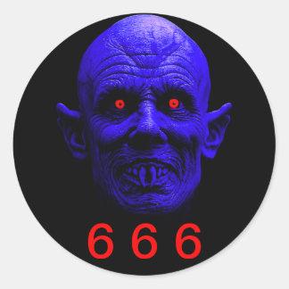 Classic Round Sticker, 6 6 6