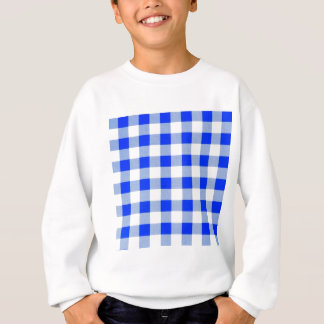Classic Royal Blue Gingham Art Design Pattern Sweatshirt