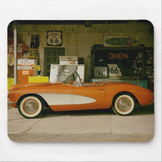 Classic RT 66 Gas Station Mousepads