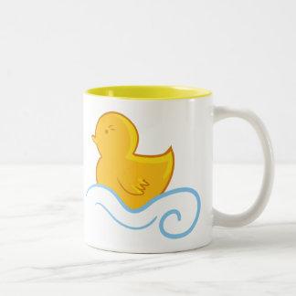 classic rubber ducky tea cup Two-Tone coffee mug
