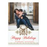 Classic Rustic Deer Head Holiday Photo Card 13 Cm X 18 Cm Invitation Card