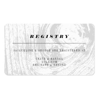Classic Rustic Woodgrain Wedding Registry Card Pack Of Standard Business Cards
