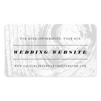 Classic Rustic Woodgrain Wedding Website Card Pack Of Standard Business Cards