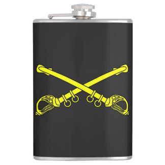 Classic Sabers Vinyl Wrapped Flask, 8 oz. Hip Flask