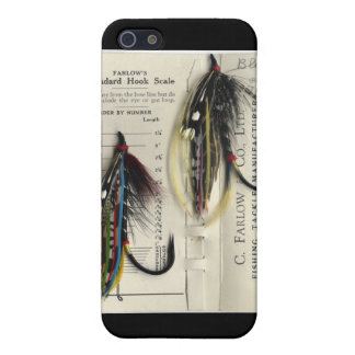Classic Salmon Fly on card iPhone 5 Cases