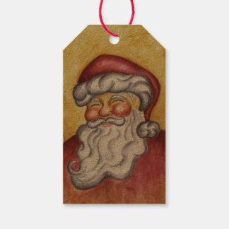 Classic Santa Claus Christmas Gift Tags