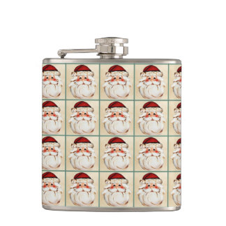 Classic Santa Claus Face Hip Flask