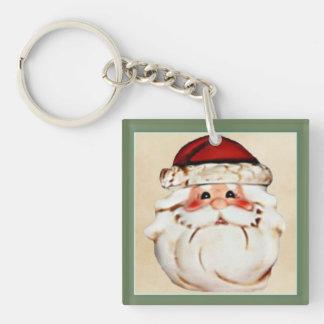 Classic Santa Claus Face Key Ring