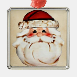 Classic Santa Claus Face Metal Ornament