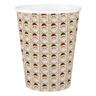 Classic Santa Claus Face Paper Cup