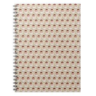 Classic Santa Claus Face Spiral Notebook