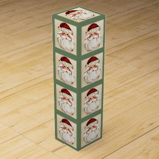 Classic Santa Claus Face Wine Box