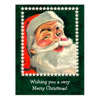 Classic Santa Claus Illustration Card to Customize