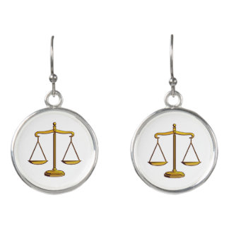 Classic Scales of Justice Earrings
