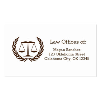 Classic Scales of Justice Law School Graduation Pack Of Standard Business Cards
