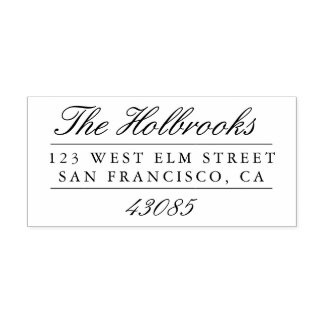 Classic Script Return Address Self-inking Stamp