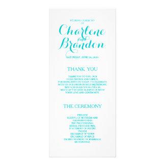 Classic Script | Turquoise Wedding Programs Rack Cards
