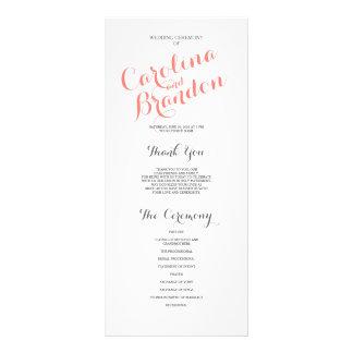 Classic Script | Wedding Program Full Color Rack Card