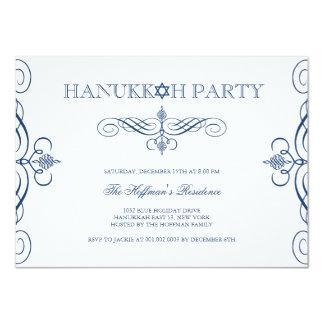 Classic Scrolls Hanukkah Holiday Party Invite
