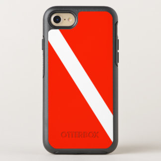 Classic Scuba Dive Flag OtterBox Symmetry iPhone 8/7 Case